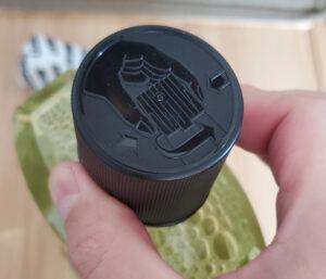 リステリン緑茶配合ゼロ1000ml(特殊構造のボトルキャップ)開け方その1